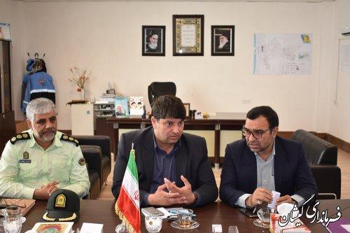 نشست مشترک نیروی انتظامی و جهاد کشاورزی شهرستان گمیشان