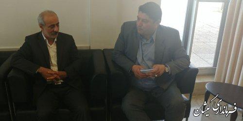 دیدار فرماندار گمیشان با مدیرکل اداری و مالی استانداری