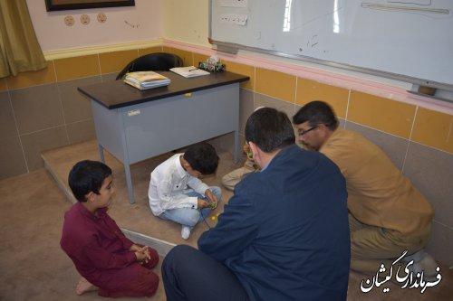بازدید فرماندار گمیشان از مدرسه استثنایی نور دانش