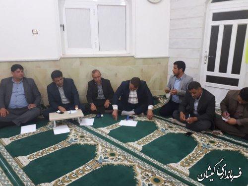 نشست مشترک فرماندار گمیشان و نماینده مردم درمجلس با شوراها و دهیاران