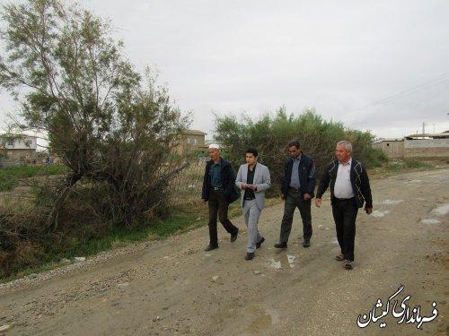 بازدید بخشدار مرکزی از روستاهای قره کیله و صفا ایشان