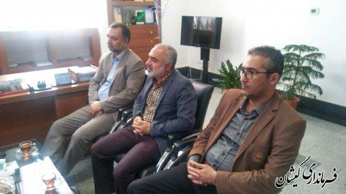 دیدار فرماندار گمیشان با سرپرست کمیته امداد امام (ره) استان