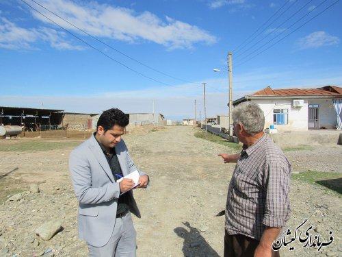 بازدید بخشدار مرکزی از روستاهای قلعه جیق کوچک و آلتین تخماق