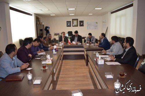 جلسه کمیسیون حفاری شهرستان گمیشان برگزار شد