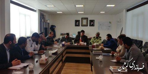 جلسه رصد مسائل اجتماعی و ترافیکی شهرستان گمیشان برگزار شد