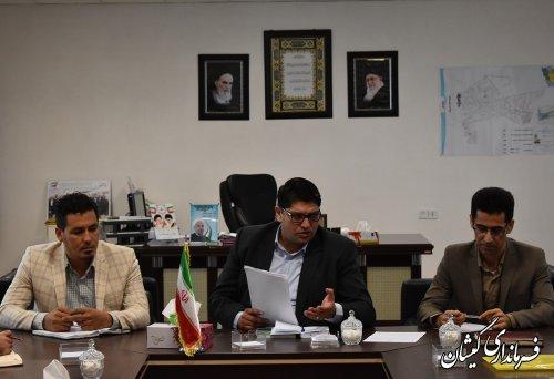 دیدار اعضای شورای اسلامی شهر گمیش تپه با فرماندار گمیشان