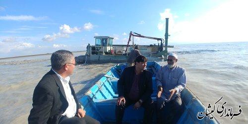 عملیات لایروبی 2کیلومتر کانال جهت دسترسی شرکت ها به دریا انجام شده است