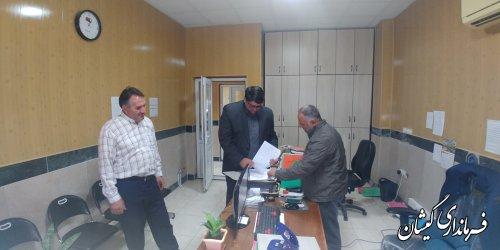 فرماندار گمیشان از شهرداری سیمین شهر بازدید کرد