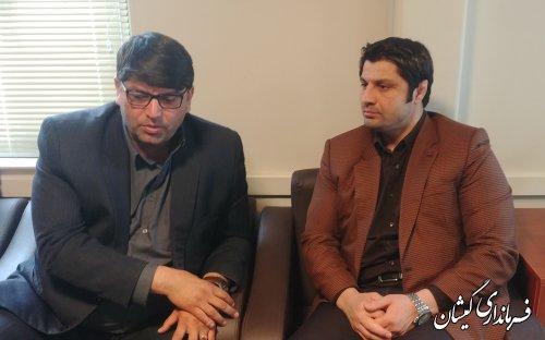 دیدار فرماندار گمیشان با مدیرکل ورزش و جوانان استان