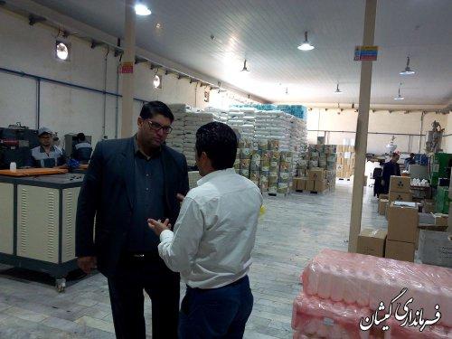 بازدید فرماندارگمیشان از شرکت رادین پلاست و کارخانه پنیرآشوراده