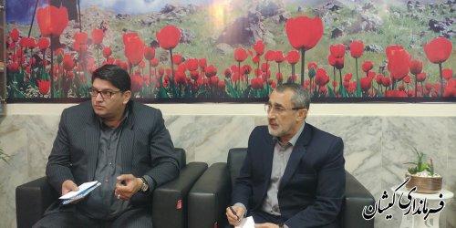 دیدار فرماندار گمیشان با مدیرکل بنیاد شهید و امور ایثارگران استان
