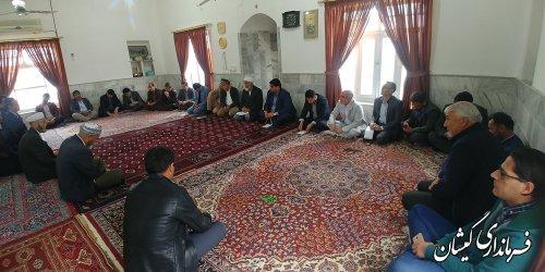 بازدید فرماندار گمیشان از روستاهای چارقلی و توماجلرچارقلی و دیدار با مردم