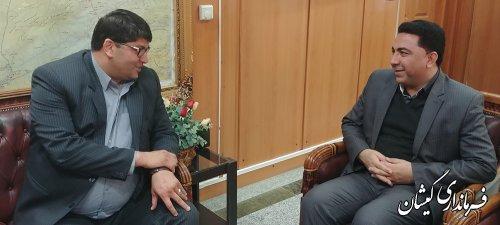 دیدار فرماندار گمیشان با مدیر مخابرات منطقه گلستان