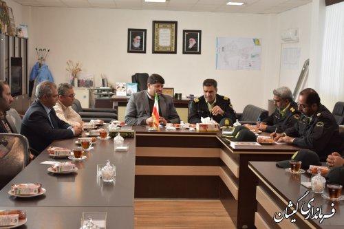 دیدار فرمانده انتظامی گلستان با فرماندار گمیشان
