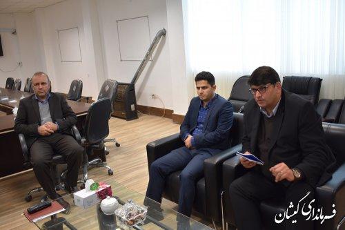 دیدار مدیر عامل برق استان با فرماندار گمیشان