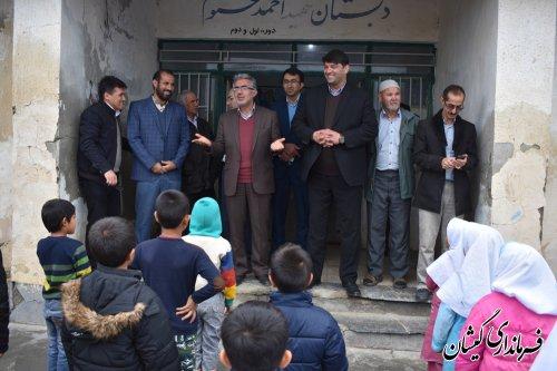 بازدید فرماندارومدیران کل آموزش وپرورش ونوسازی مدارس از چند مدرسه