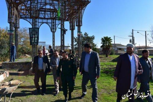 بازدید فرماندار و مدیران کل بنیادشهیدوحفظ آثاردفاع مقدس از پروژه المان شهدایگمنام