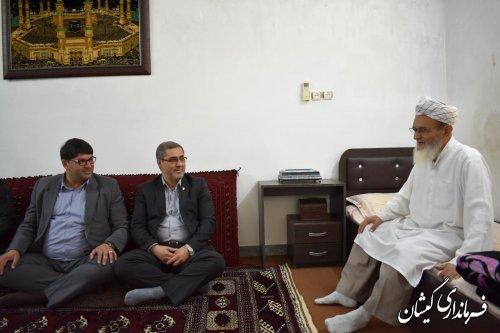 دیدار فرماندارگمیشان و مدیرکل بنیادشهید با امام جمعه شهرستان