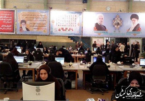 سامانه 111 ویژه سفر رئیس جمهوری در گلستان فعال شد