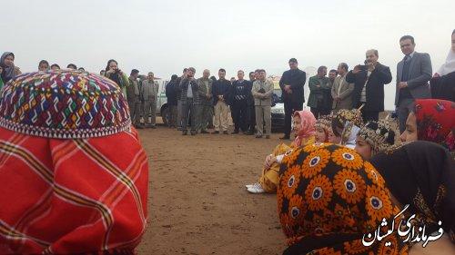 روزجهانی تالاب در ساحل چارقلی بخش مرکزی گمیشان برگزار شد
