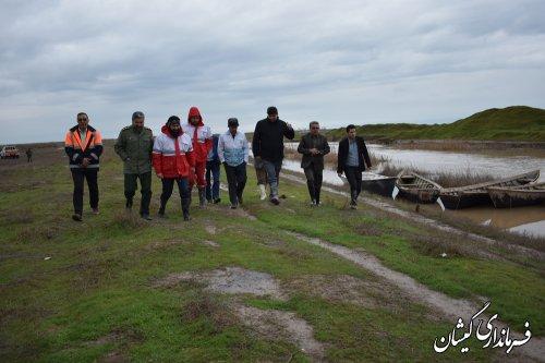 بازدید فرماندار گمیشان از رودخانه گرگان رود