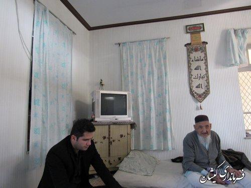 بخشدار مرکزی گمیشان با خانواده شهدا بدخشان به مناسبت چهلمین سالگرد پیروزی انقلاب اسلامی دیدار نمود