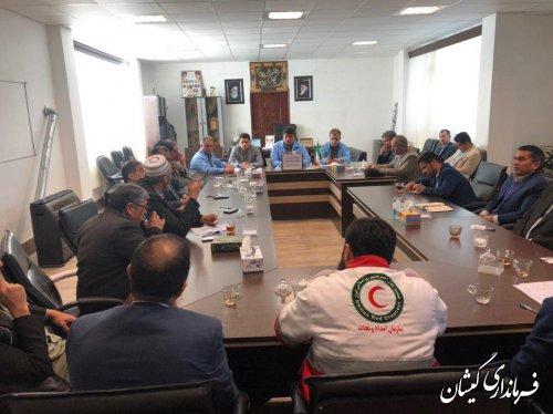 جلسه اضطراری شورای هماهنگی مدیریت بحران شهرستان گمیشان برگزار شد