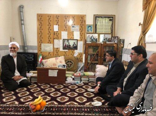 دیدار فرماندار و نماینده مجلس با روحانیون حوزه علمیه روستای آرخ بزرگ