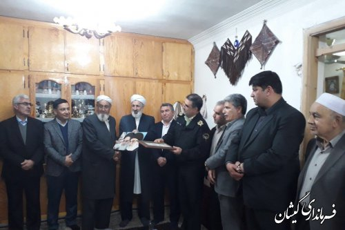 حضور فرماندار گمیشان در مراسم یادوارده شهیدان حبیب لی