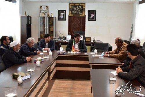دیدار هیئت مدیره شرکت تعاونی دامداران اترک 4 با فرماندار گمیشان