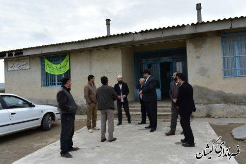 بازدید فرماندار گمیشان از دبستان جهاد روستای چارقلی
