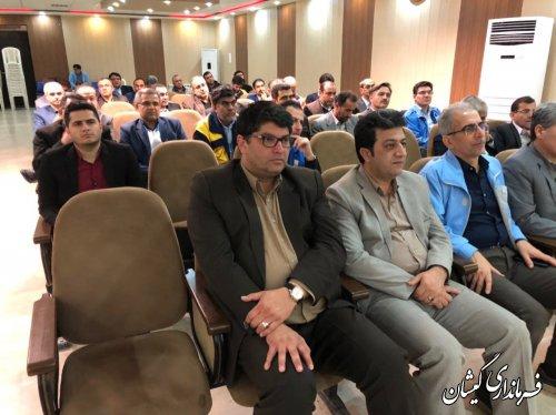 حضورفرماندارواعضای شورای هماهنگی مدیریت بحران گمیشان دردوره آموزشی