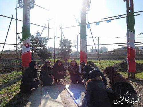 مراسم غبارروبی مزار شهدای گمنام شهرستان گمیشان برگزار شد