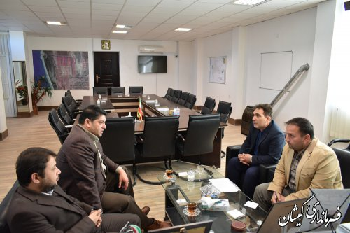 نشست هماهنگی احداث بازارچه در مرکز شهرستان گمیشان برگزار شد