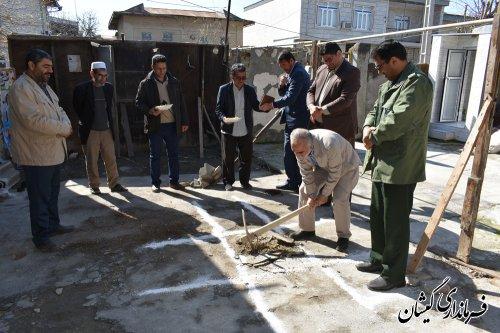 عملیات اجرایی ساخت مسکن مددجوی کمیته امدادامام(ره) گمیشان آغاز شد