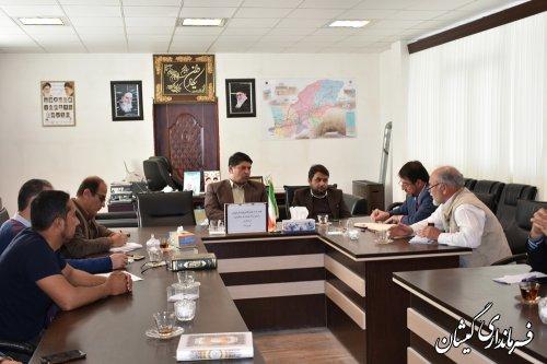 جلسه بررسی وضعیت واحدهای اقامتی شهرستان گمیشان برگزار شد