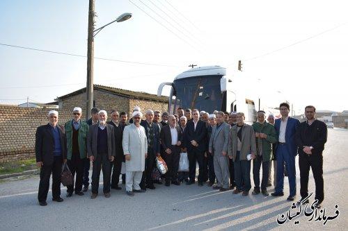 اعزام 40نفرازمددجویان تحت پوشش کمیته امدادامام(ره)گمیشان به مشهدمقدس