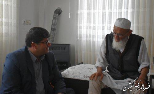 دیدار فرماندار گمیشان با امام جمعه شهرستان