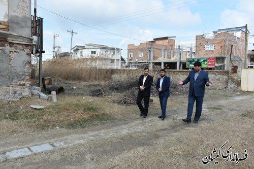 بازدید فرماندار گمیشان از محل پیشنهادی نوروزگاه مرکز شهرستان