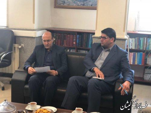 دیدار فرماندار گمیشان با مدیرکل مالیاتی استان