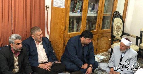 دیدار فرماندار و فرمانده انتظامی با مدیر حوزه علمیه محله قارقی سیمین شهر
