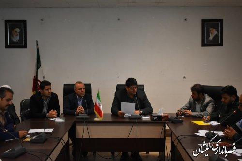 چهارمین جلسه ستاد تسهیلات و خدمات سفر نوروز 98 شهرستان گمیشان