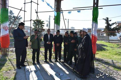 ادای احترام به مقام شامخ شهدای گمنام شهرستان گمیشان
