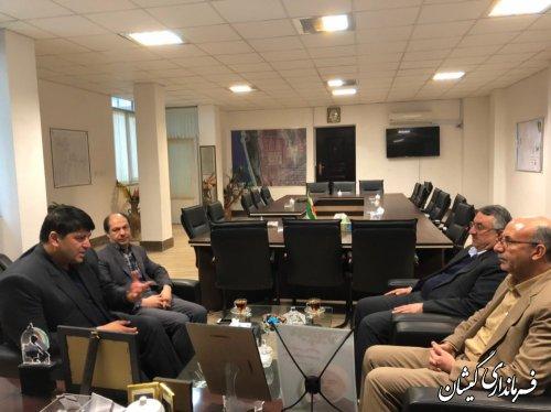 دیدار رئیس سازمان شیلات کشور با فرماندار گمیشان