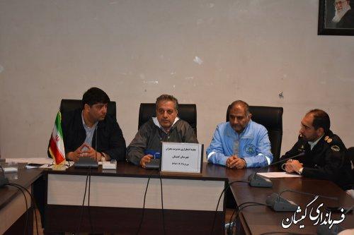 برگزاری جلسه اضطراری هماهنگی مدیریت بحران شهرستان