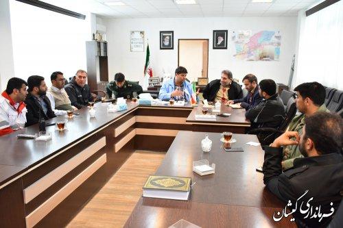 جلسه مشترک مدیرکل ستاد اجرایی حضرت امام ونماینده برکت احسان با فرماندار