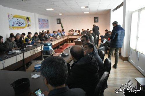 جلسه اضطراری مدیریت بحران شهرستان گمیشان برگزار شد