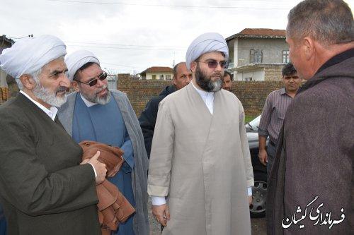 نماینده مقام معظم رهبری از داخل شهرگمیش تپه بازدید کرد