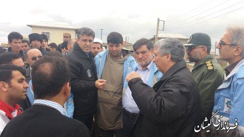 معاون وزیر و رئیس سازمان مدیریت بحران وضعیت شهرستان گمیشان را بررسی کرد
