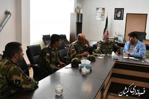 اعزام نیرو وتجهیزات لجستیکی ارتش به شهرستان گمیشان